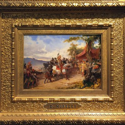 Domenico Morelli. Scena storica. Olio su tavola, 24x34 cm