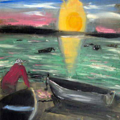 Jack Kerouac, Senza Titolo, N.D., olio su tela, 40×29,5 cm