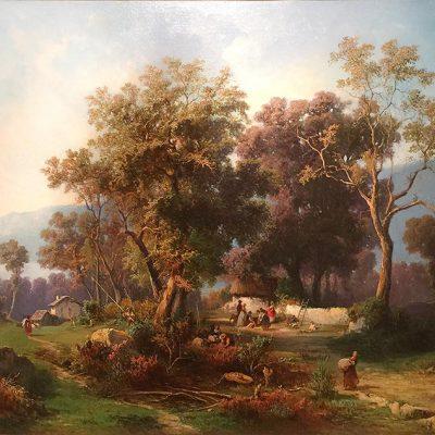 Lelli Giovan Battista. La raccolta delle olive, 1870