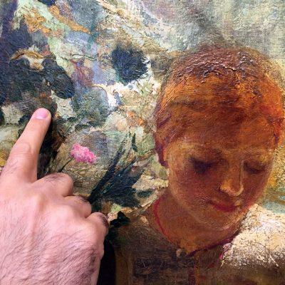 Pittura. Controllo dello stato di conservazione di un quadro