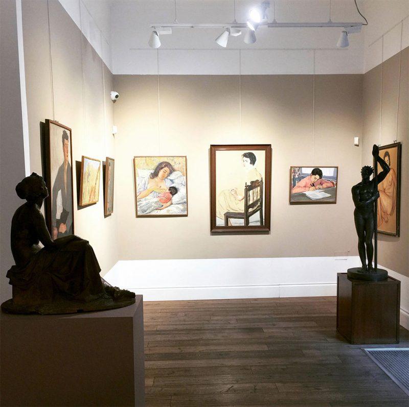 Galleria Berardi. Interno, arte del Novecento