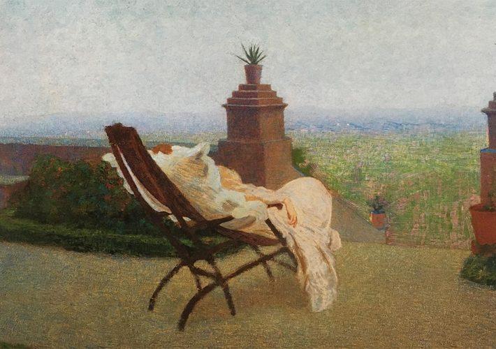 Angelo Morbelli. Giovinetta malata, 1894-98. Tecnica: Olio su Tela