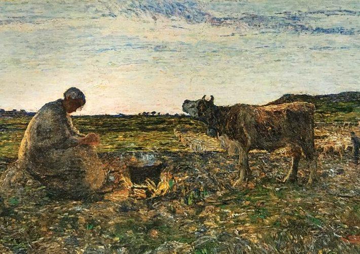 Giovanni Segantini. L'ora mesta, 1892 - Tecnica: Olio su tela