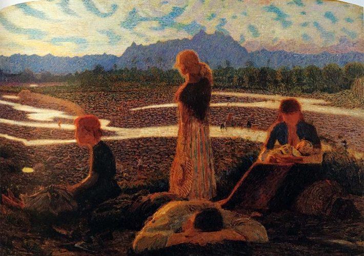Giuseppe Pellizza da Volpedo, Membra stanche, 1905-106 | Tecnica: olio su tela, 127 x 164 cm
