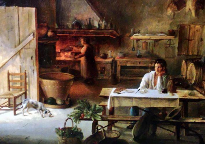 Vincenzo Abbati. Interno. Olio su tela, 50 x 40 cm