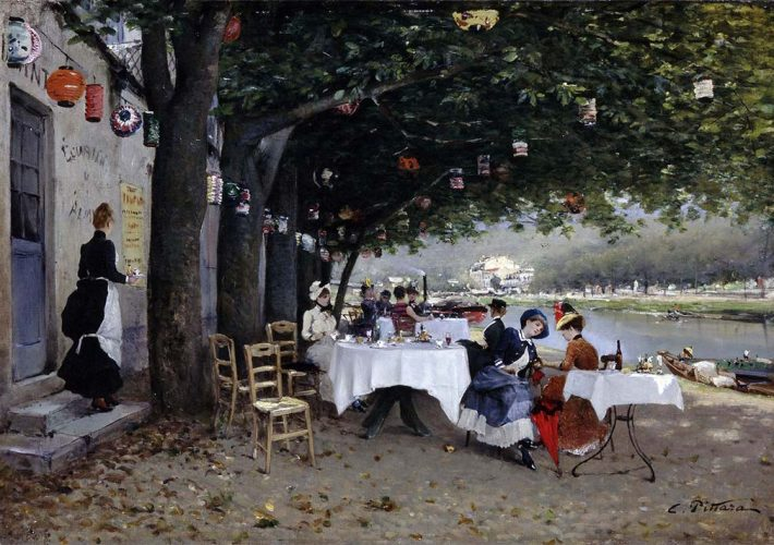 Carlo Pittara. Un Pomeriggio sulle Rive della Senna, 1884