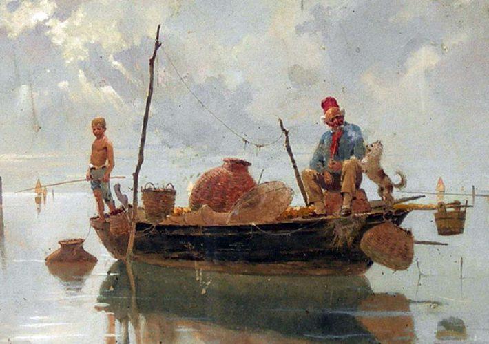 Giuseppe Vizzottto Alberti, Pescatori in laguna