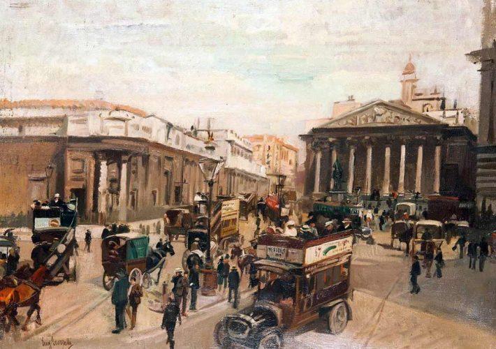 Eugenio Scorzelli, Trafalgar Square - Tecnica: Olio su Tela, 48 x 64 cm