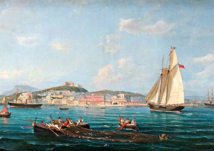Giovanni Serritelli. Golfo di Napoli - Olio su tela