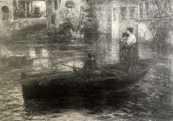 Carlo Arpini. Il Lambro a Monza - Olio su Tela, 120 x 175 cm