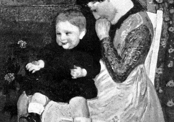 Evangelina Emma Alciati. Madre col Bimbo - Tecnica: Olio su Tela, 86 x 100 cm