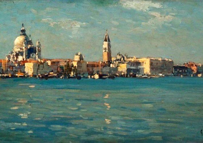 Giovanni Salviati, Venezia. Bacino di San Marco - Tecnica: Olio su Tavola, 21.8 x 37 cm