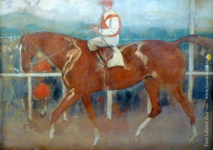 Camillo Innocenti. Capannelle - Tecnica: Olio su Cartone, 23 x 31 cm