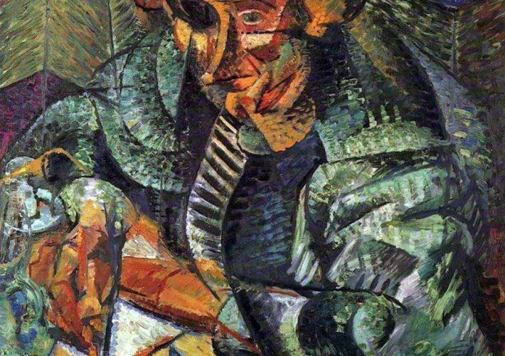 Umberto Boccioni. L'Antigrazioso (dettaglio) Tecnica: Olio su Tela