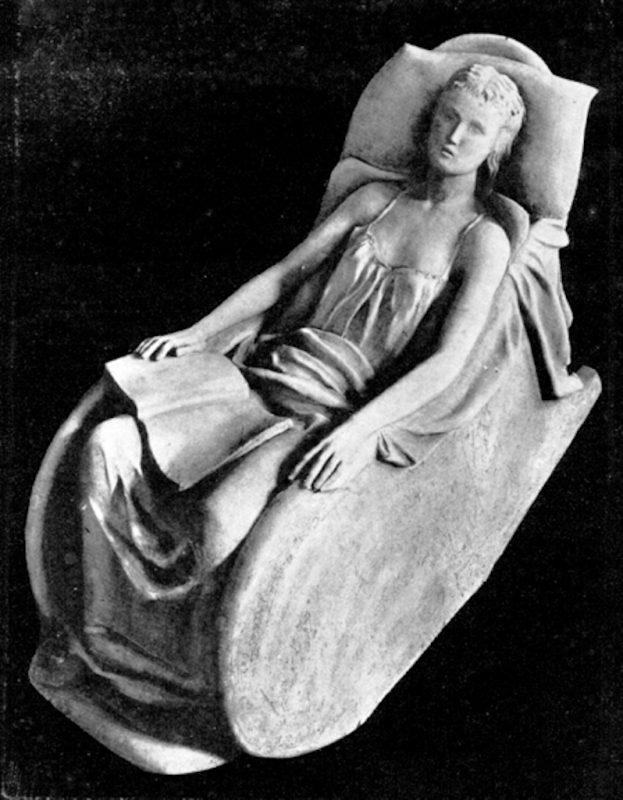 Arturo Martini. Il Sonno, marmo. Esposto alla II Quadriennale romana del 1935
