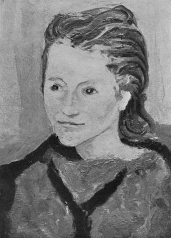 """Bruno Cassinari. Ritratto di Rosetta, 1941. Tecnica: Olio su tela, 49 x 35 cm. Firmato in basso a destra: """"Cassinari"""""""