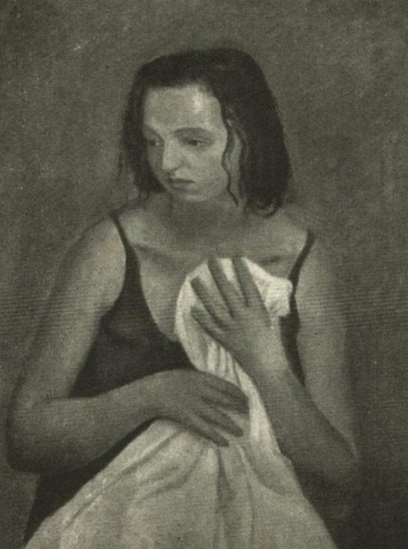 Emanuele Cavalli. Bagnante,1934 - Tecnica: Olio su Tela 55 x h77 cm