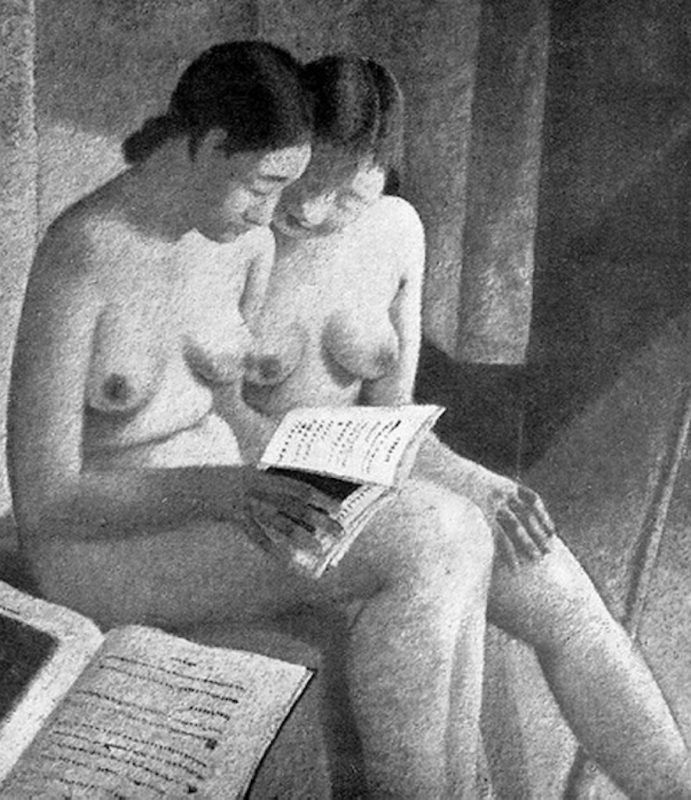 Felice Casorati, Ragazze in lettura, 1932