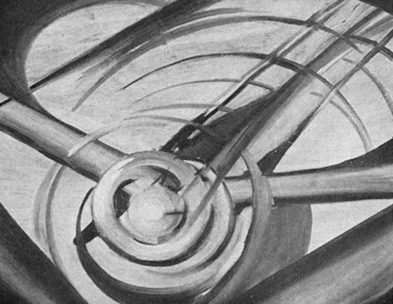 Guglielmo Sansoni detto Tato, Dinamismo aereo, 1931 - Tecnica: Olio su tela
