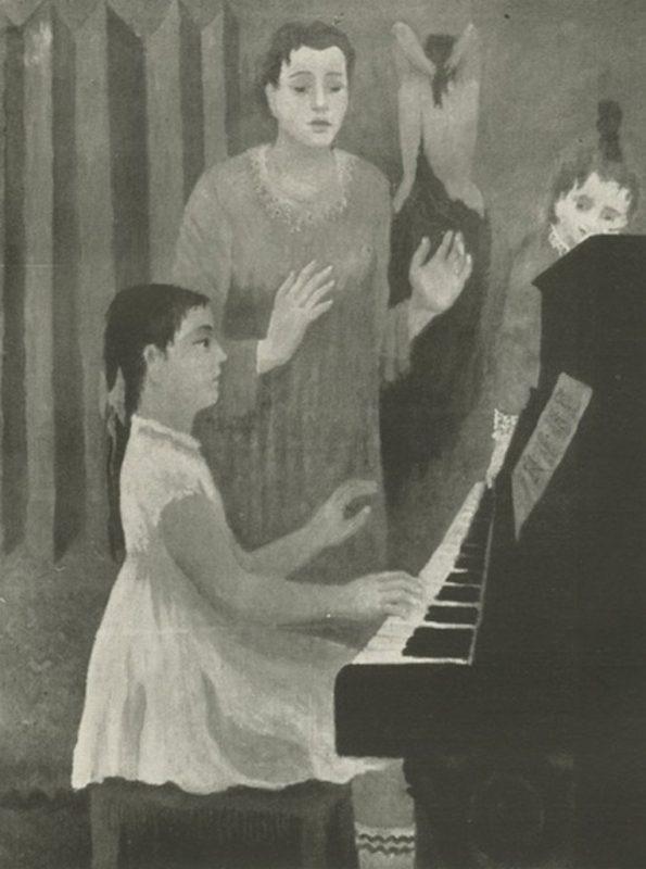Mario Mafai. Lezione di Piano, 1934 - Tecnica: Olio su Tela, cm. 148 x 112