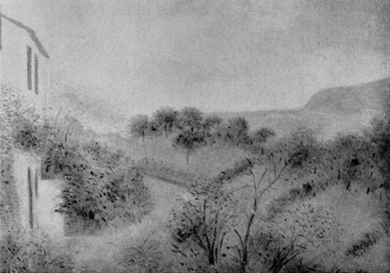 Umberto Lilloni, Paesaggio ad Alassio, 1942