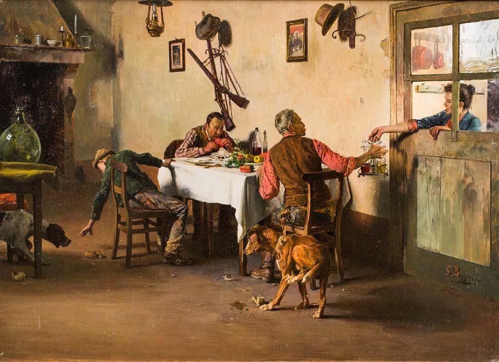 Giovanni battista quadrone pittore quotazione gratuita for Tavola da pranzo