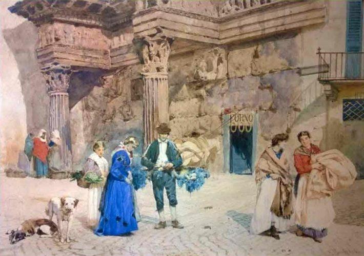 Pio Joris. Popolani presso il Foro di Nerva