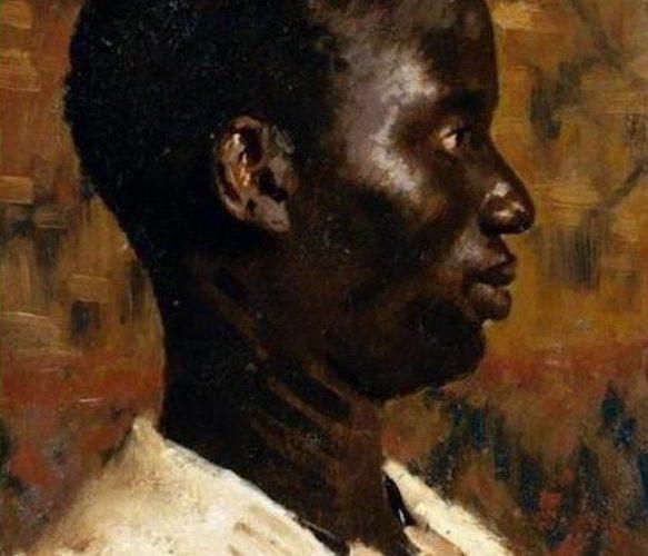 Pio Sanquirico. Figura di Profilo (dettaglio). Tecnica: Olio su tela