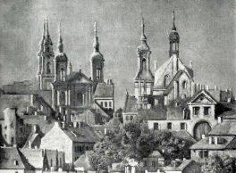 Bernardo Bellotto. Veduta di Varsavia dalla Vistola (dettaglio). Tecnica: Olio su tela. Torino, Collezione Privata