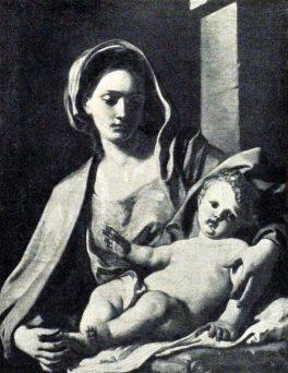 Francesco Solimena. Madonna col Bambino. Tecnica: Olio su tela. Vienna, Galleria Harrach