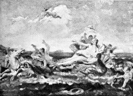Giambattista Tiepolo. Disegno per Trionfo di Anfitrite. Tecnica: Disegno. Roma, Collezione Sartorio