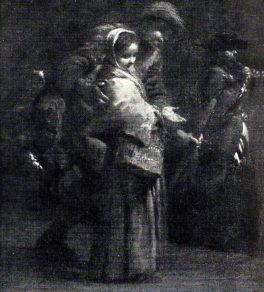 Giuseppe Maria Crespi. Mendicante Cieco. Tecnica: Olio su tela. Milano, Collezione privata
