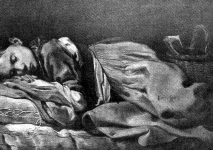 Antonio Mercurio Amorosi. Fanciulla Dormiente. Tecnica: Olio su tela