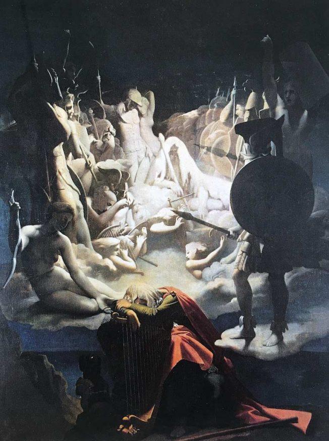 Ingres. Jean Auguste Dominique Ingres. Il Sogno di Ossian, 1813. Tecnica: Olio su tela, 348 x 275 cm, Montauban, Musée Ingres