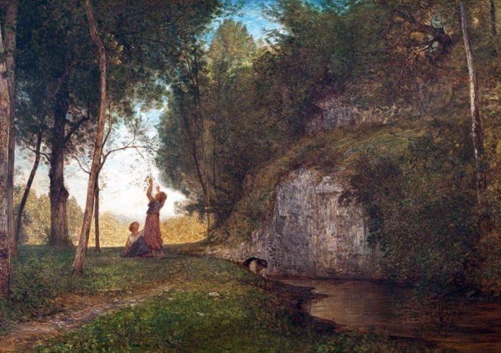 Fontanesi a Reggio Emilia. Antonio Fontanesi. La Quiete, 1860. Tecnica: Olio su tela