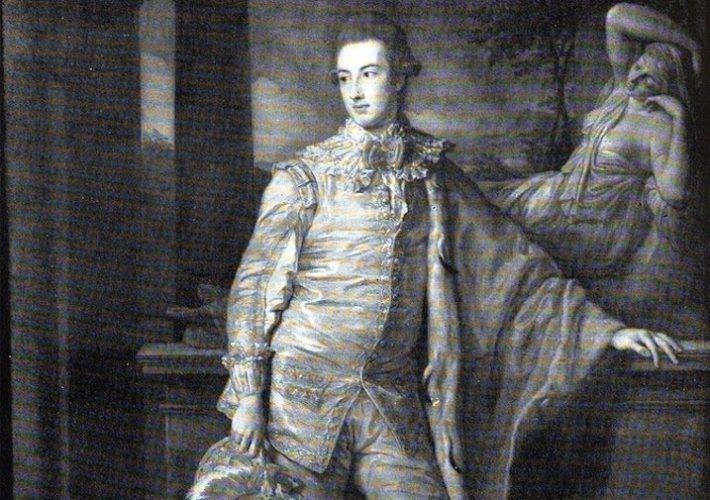 Pompeo Batoni. Ritratto di William Coke, Primo Conte di Leicester (dettagtlio). Tecnica: Olio su tela
