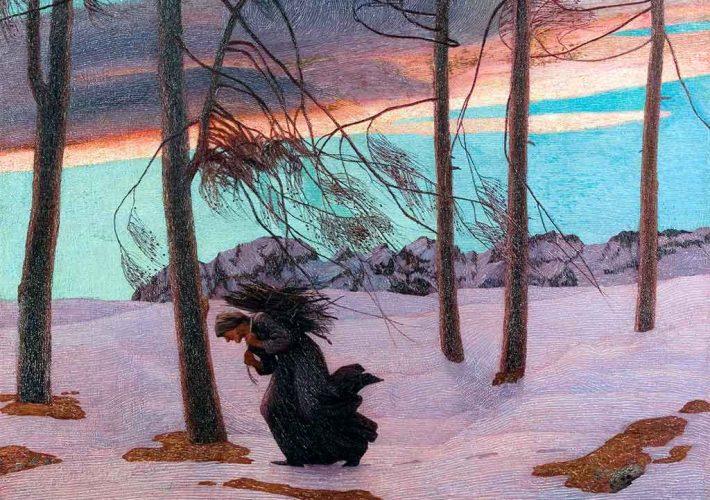Carlo Fornara. L'Aquilone, 1902. Tecnica: Olio su tela, 135 x 154 cm