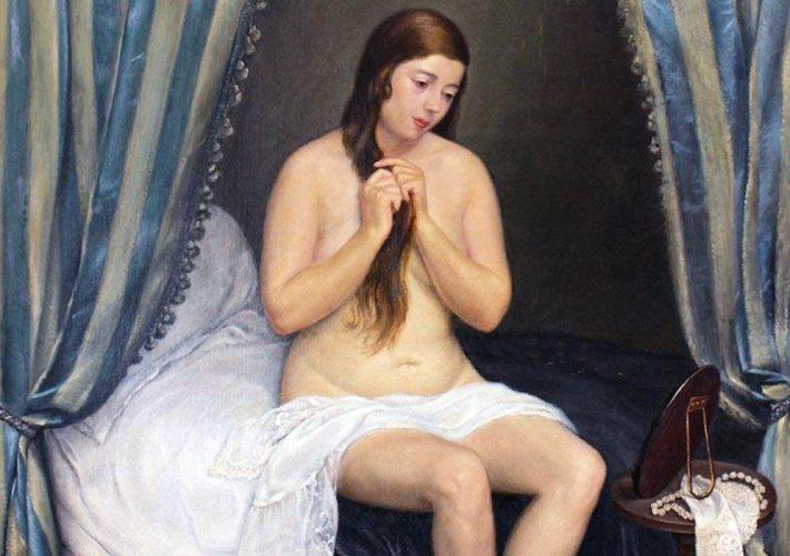 Carlo Socrate. Danae, 1929 (dettaglio). Tecnica: Olio su tela, 153 x 129 cm.