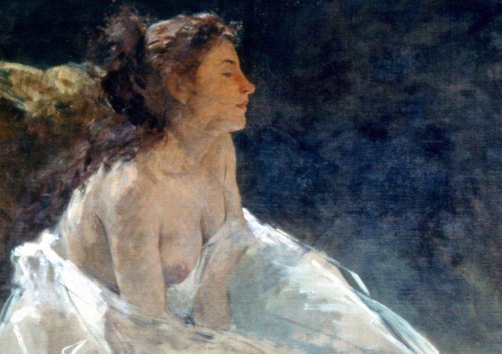 Ragione e sentimento. Domenico Morelli. Studio di Figura, 1874. Tecnica: Olio su Tela.