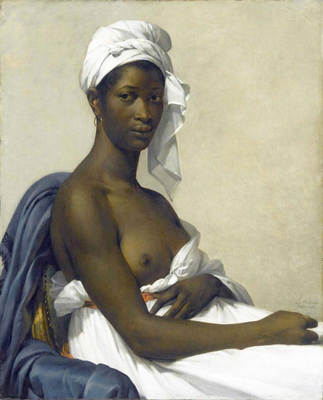 Il modello nero. Marie-Guillemine Benoist. Ritratto di Madeleine, 1800.