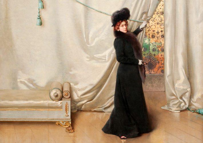 L'Eterna Musa. Vittorio Corcos. Anna Belimbau, 1900. Tecnica: Olio su tela, 78 x 88 cm. Centro Matteucci
