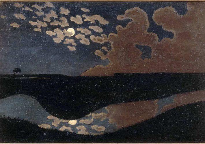 Félix Vallotton. Chiaro di luna, 1895. Tecnica: Olio su tela, 27 x 41 cm. Museo d'Orsay, Parigi