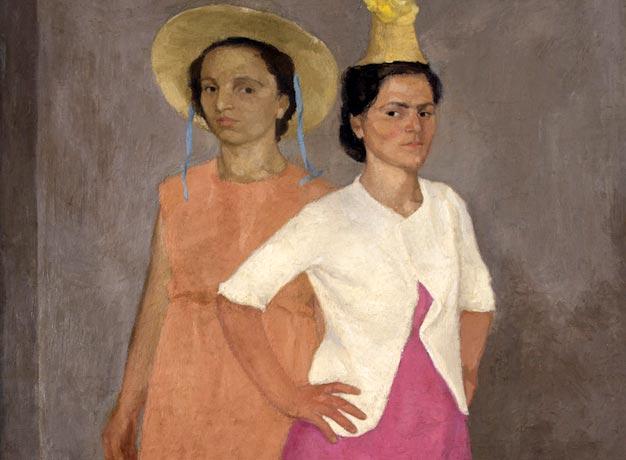 Emanuele Cavalli. Figure allo Specchio (dettaglio). Tecnica: Olio su tela, 137 x 83 cm. Collezione privata