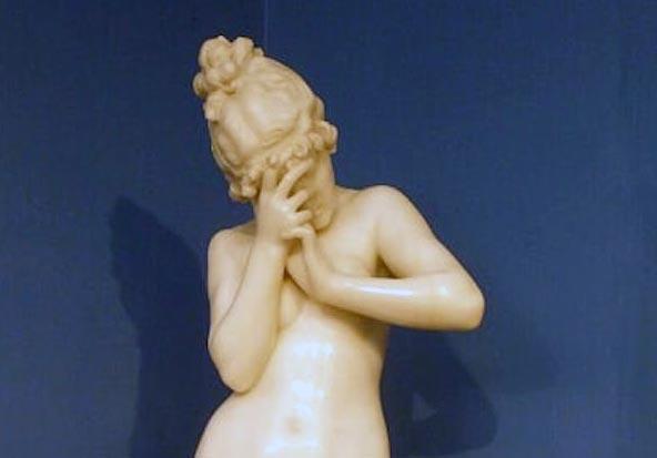 Ercole Rosa. Frine (Dettaglio). Tecnica: scultura in marmo, h. 88 cm