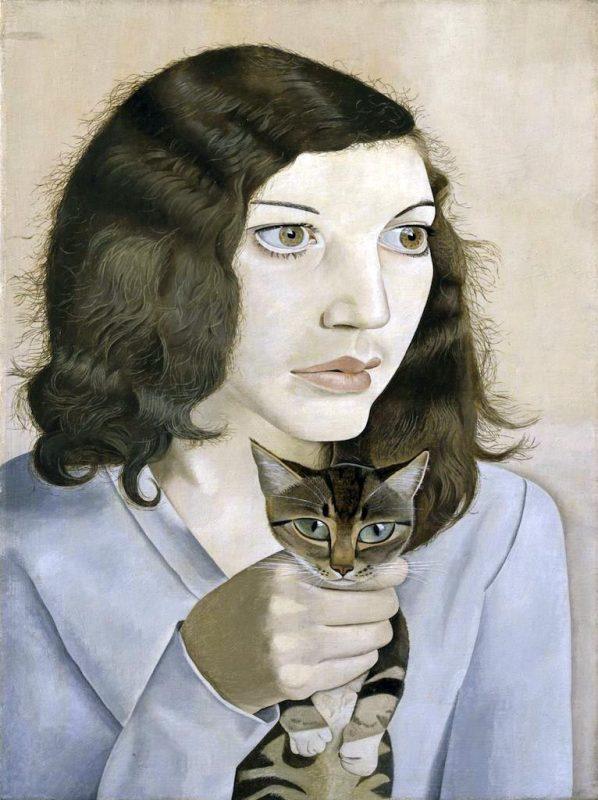 Scuola di Londra. Lucian Freud. Girl with kitten, Olio su tela. Tate Gallery, Londra