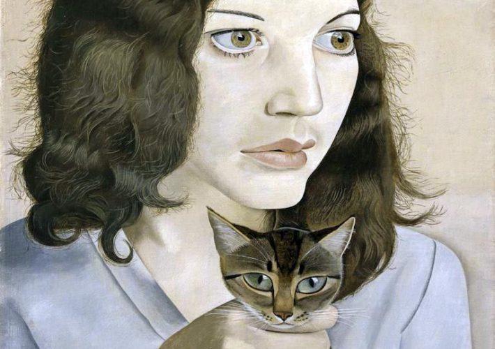 Scuola di Londra. Lucian Freud. Girl with kitten (dettaglio) Tecnica: Olio su tela, 41 x 30,7 cm. Tate Gallery, Londra