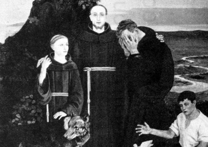 Guglielmo Janni. San Francesco, 1925 (dettaglio). Tecnica: Olio su tela