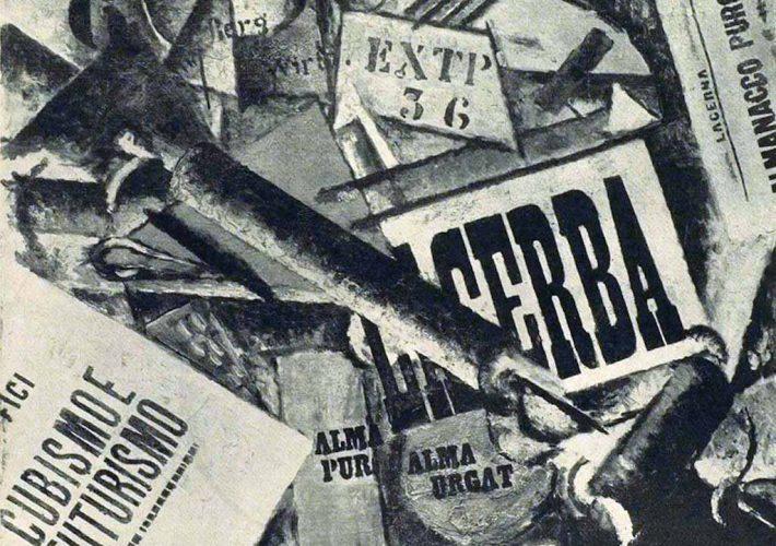 Ardengo Soffici. Tipografia, 1914. Tecnica: Olio su tela