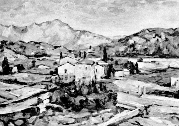 Enrico Paulucci. La Valle di S. Maria. Tecnica: Olio su tela
