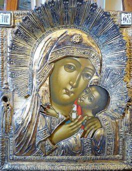 Icone russe. Icona Russa con Madre di Dio - Pittura su Tavola